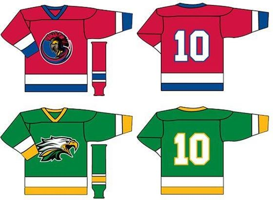 Picture of hockey jerseys and socks
