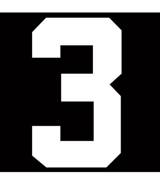 Picture of 3 HOCKEY NUMBER