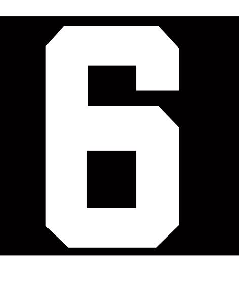 Picture of 6 HOCKEY NUMBER
