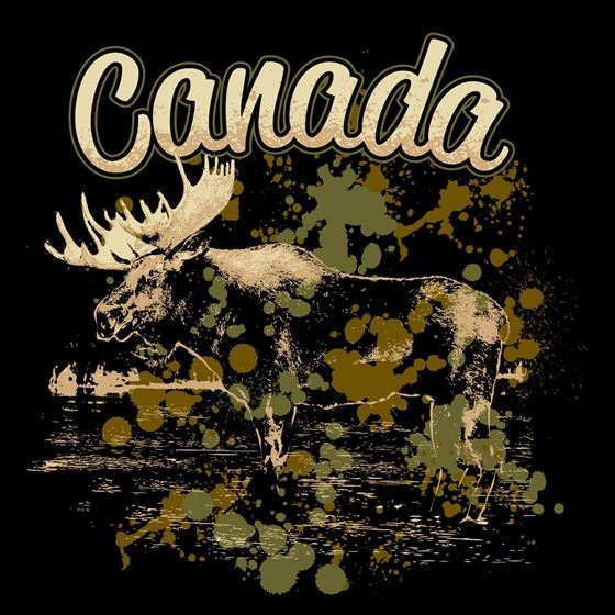 Picture of 156X Moose Splatter Paint Canada