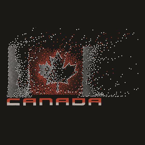 Image de 069 Canada Flag Dots