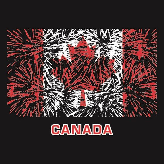 Image de  011 Feux d'artifice au drapeau du Canada