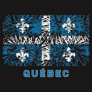 Picture of 012 St Jean Baptiste Quebec FLAG Fireworks